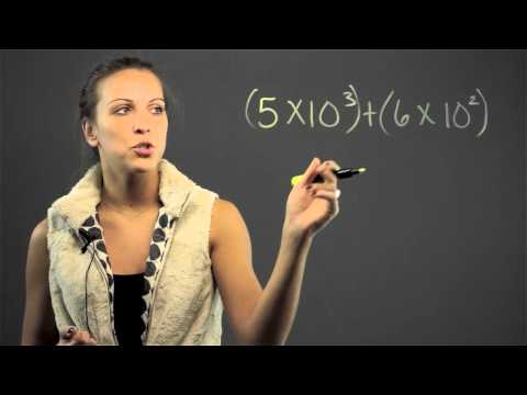 How to Do Addition & Subtraction in Exponential Notation : Math Lessons & Tips