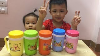 Learn Colors for Kids with Cups | Colors for Children Videos