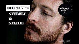 STUBBLE & STACHE (Barber Beard Trim & Shave Series Ep 10)