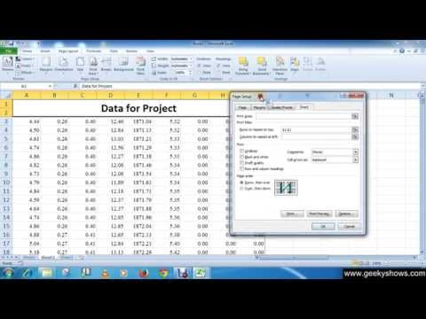 Microsoft Office Excel 2010 Print Titles On Each Page