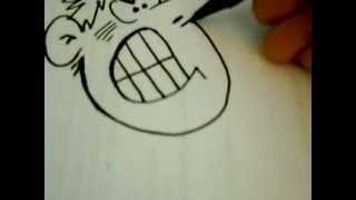 Learn to draw an angry cartoon