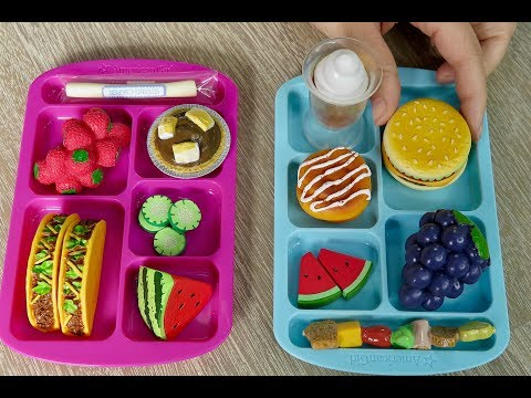 Packing American Girl Doll School Bento Box Lunches