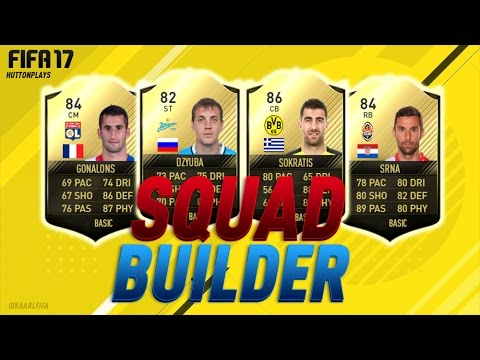 FIFA 17 Squad Builder - TIME TO EXPERIMENT! w/ IF Dzyuba, IF Srna, IF Sokratis + IF Gonalons!