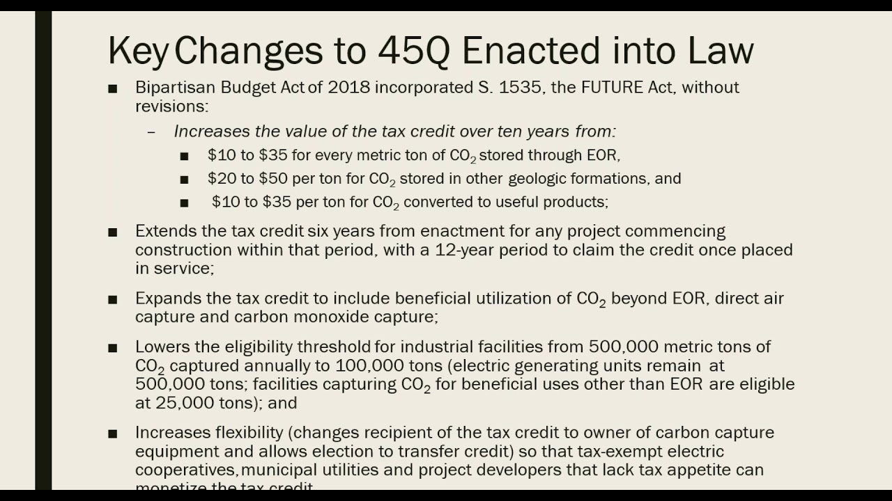 The Future Of Ccs What Do Updated 45q Tax Credits Mean For Carbon Capture Part 1