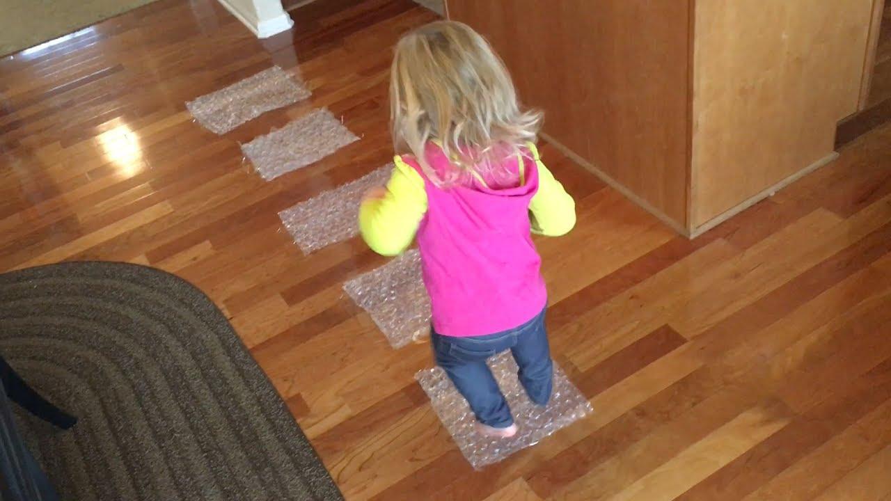 Bubble Wrap Hop Easy Fun Indoor Activities Toddlers Savy Baby
