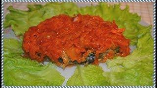 Жареная рыба под маринадом. Вкусное блюдо для праздничного стола. Вкусные блюда.