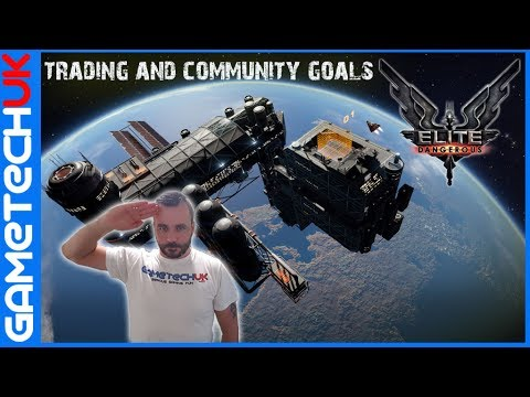 Elite Dangerous - Setting up a trading ship (Type 6 - ideal for new players) and Community Goals