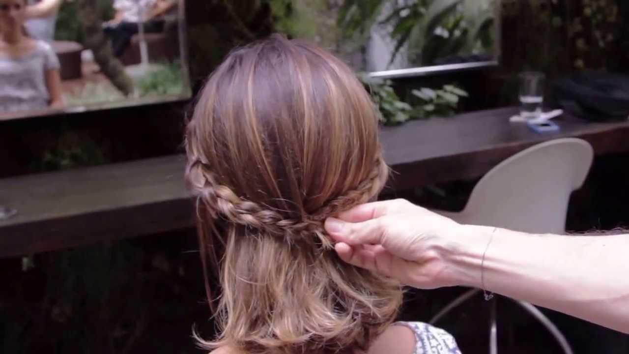 Marcos Proença ensina penteados para corte long bob - YouTube