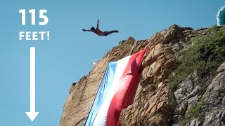 INSANELY HIGH CLIFF DIVE
