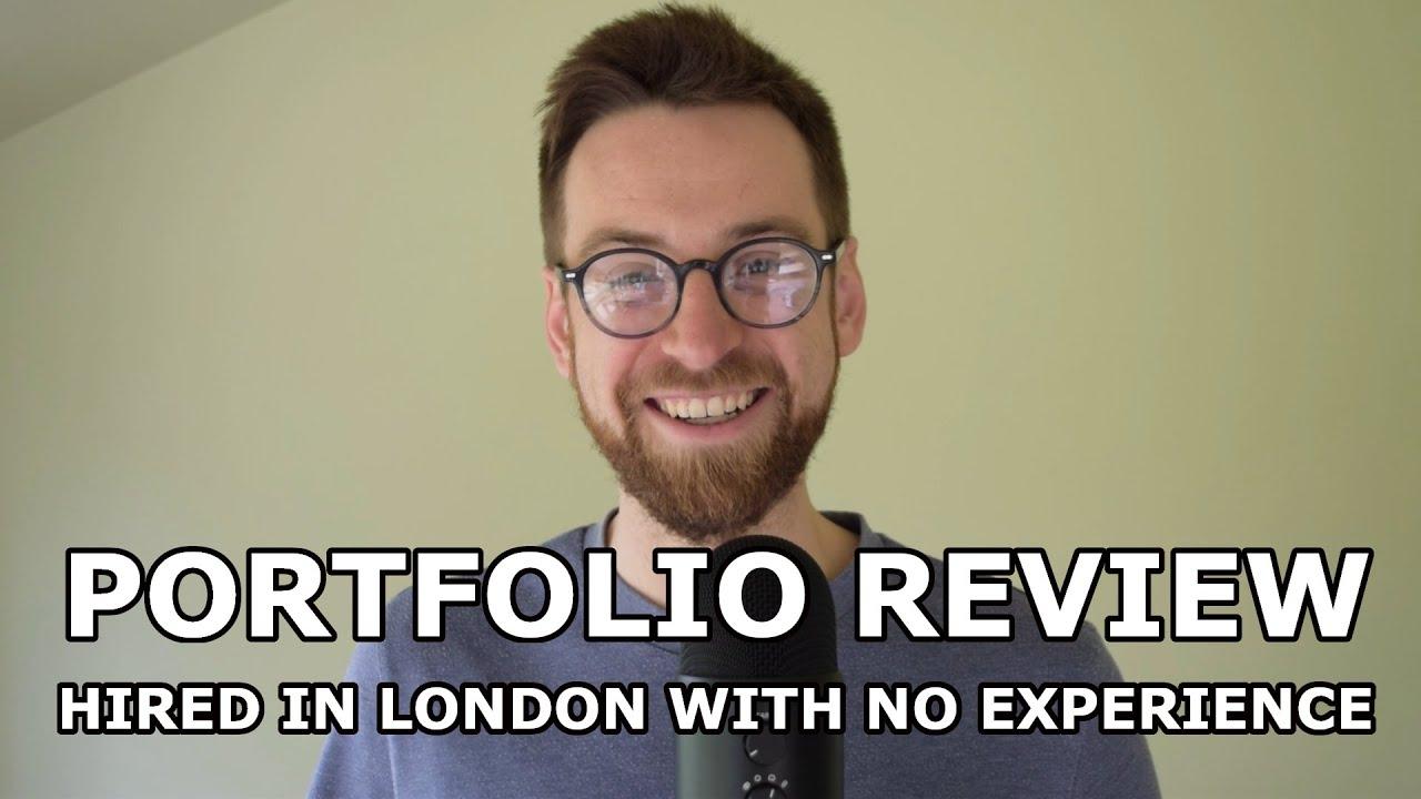 Junior Web Developer Portfolio Review || How He Got Hired In London (UK)