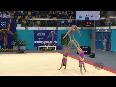USA Women's Groups - Balance Qualifications  -- 2014 Acrobatic Worlds, Levallois-Paris (FRA)