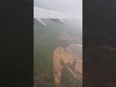 Plane landing in Oran Aireport Algeria