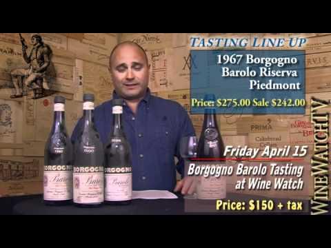 Borgogno Wine Tasting at Wine Watch