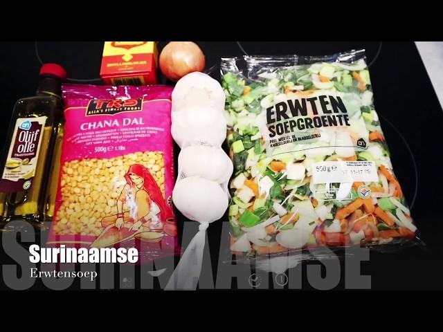 Surinaamse erwtensoep | Gele pesi soep - vegetarisch