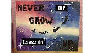 DIY: Tumblr/Disney Inspired Canvas Art (Room Decor)