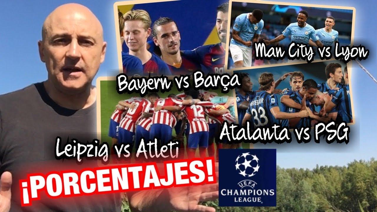BAYERN vs BARCELONA, LEIPZIG vs ATLETI... CUARTOS DE CHAMPIONS, ANÁLISIS Y PORCENTAJES #MundoMaldini