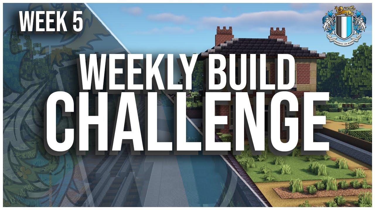Minecraft : Weekly Build Challenge - Victorian Train Station - Week 5