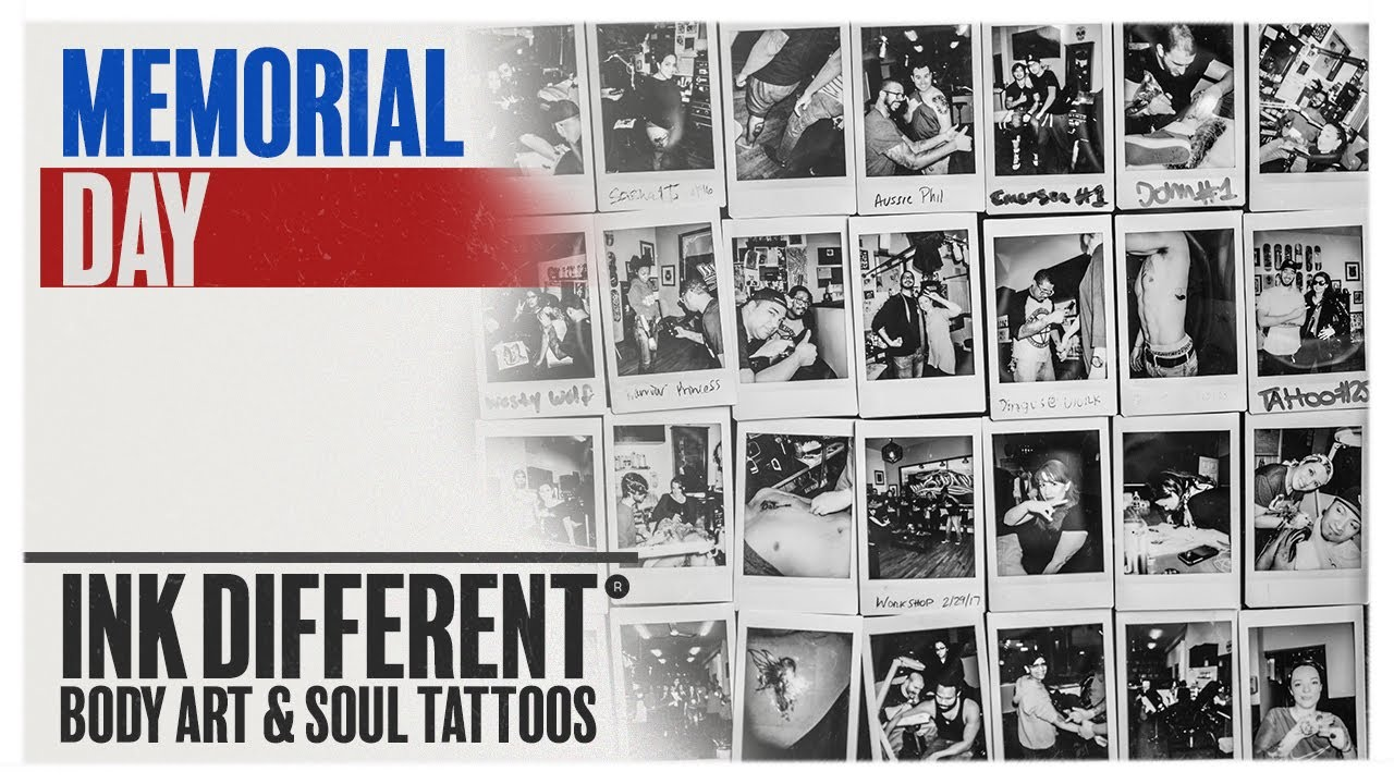 Happy Memorial Day From Body Art Soul Tattoos Youtube