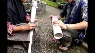 video pembuatan pipa venturi dengan mano meter (XII IPA 3 '15 SMA ALMASOEM)