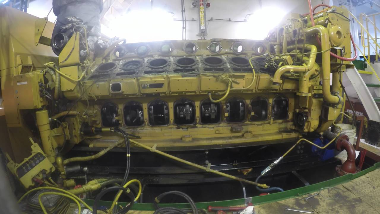 AMERICAN PHOENIX CAT 3516 - 11K HOUR TOP END OVERHAUL - YouTube