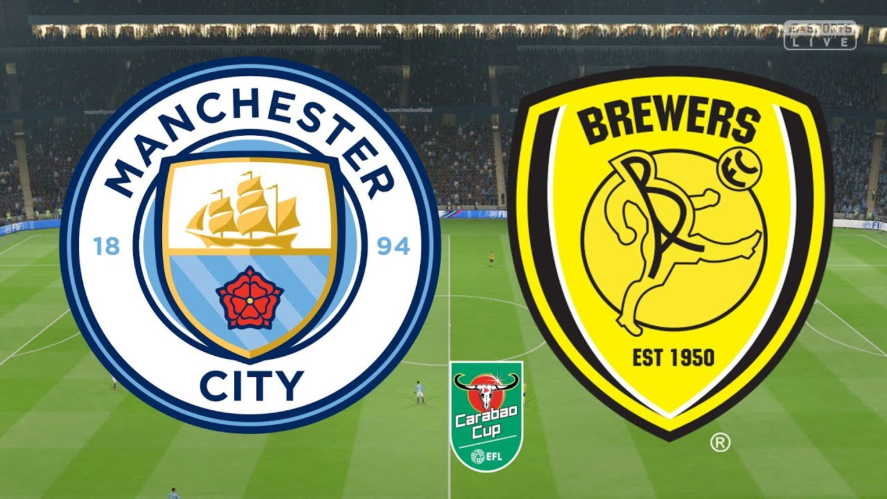 Image result for Manchester City vs Burton Albion English Carabao Cup 2019 Live