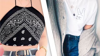 DIY Turn Old Clothes Into New! 7 Thrift Flip Ideas | Clothing Hacks