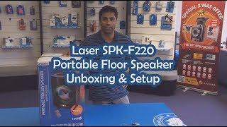 Laser SPK F220 Portable Floor Speaker Unboxing & Setup