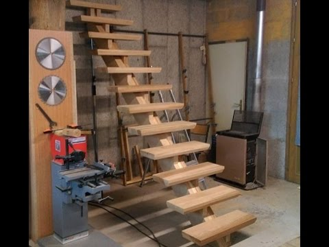 fabrication d 39 un escalier partie 2 build an oak staircase part2 youtube. Black Bedroom Furniture Sets. Home Design Ideas