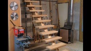 Fabrication d'un escalier partie 2/Build an oak staircase. Part2