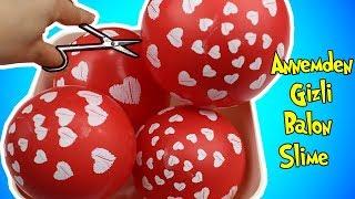 Anemden Gizli Balon Patlatıp Slime Yaptım!! | Heyecan ve Korku İçinde Stres Slime! | Bidünya Oyuncak