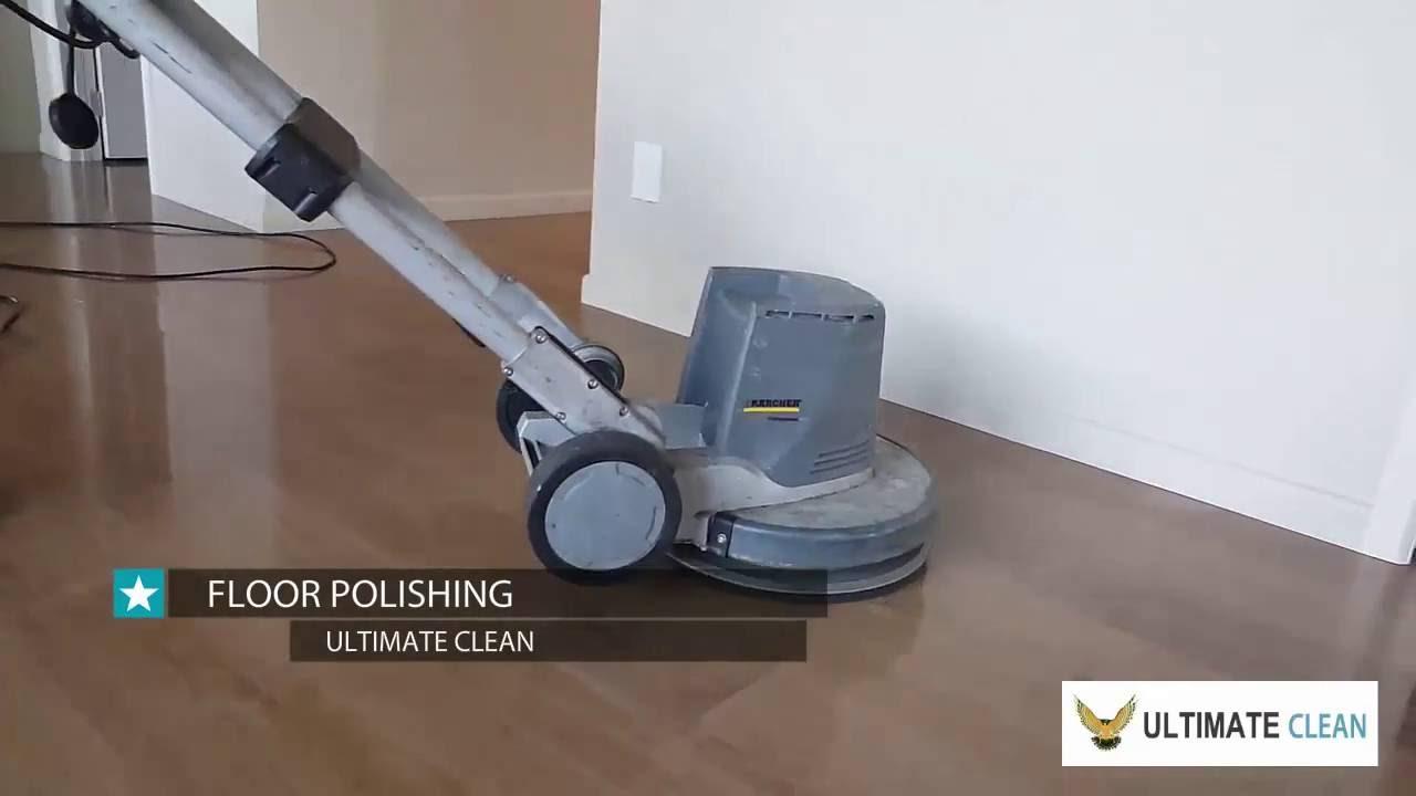 Floor Polishing Buffing - Ultimate Clean Hamilton NZ