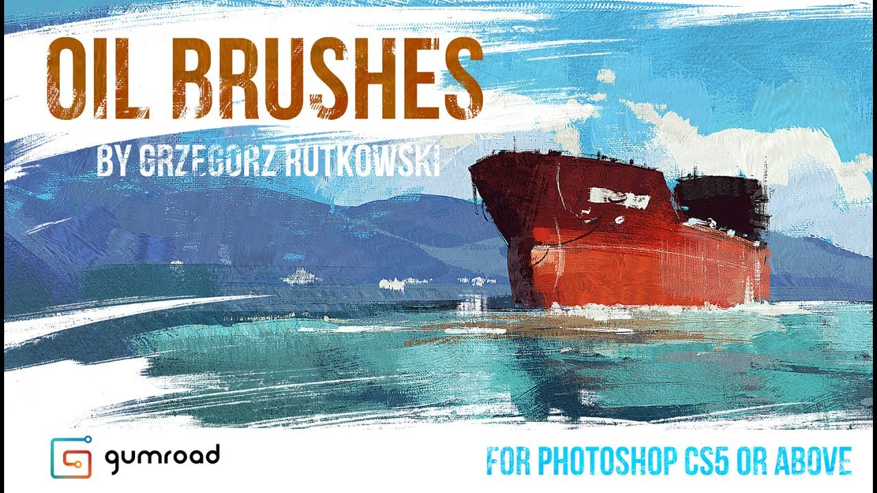 Oil Brushes for photoshop - Grzegorz Rutkowski