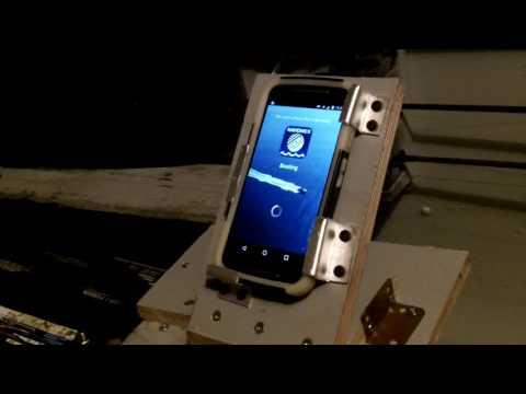 Support a telephone cellulaire pour mon bateau,Navionic app.Android.