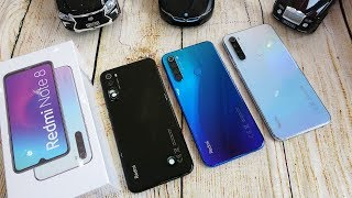 Xiaomi Redmi Note 8 colors unboxing | Camera, fingerprint, face unlock tested