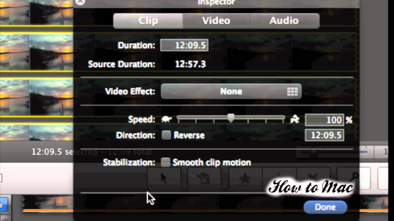 Part 2. How to Make Time-lapse in iMovie