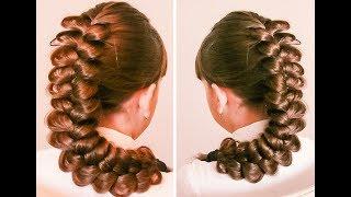 Коса из трёх прядей объёмная  ОЧЕНЬ ПРОСТО. ДЛЯ НОВИЧКОВ  Hair tutorial