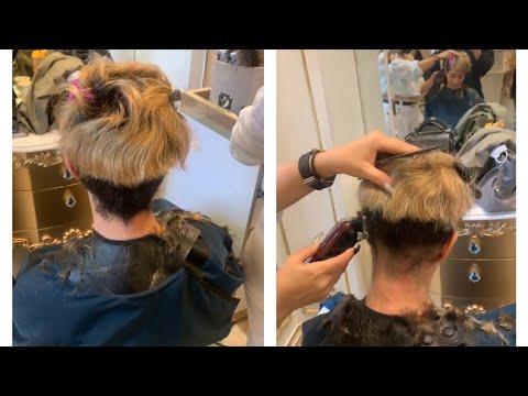 Super short haircut