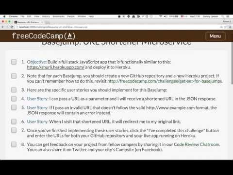Build a URL Shortener Microservice