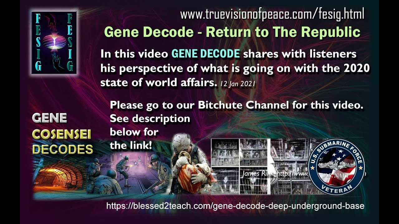Gene Decode - Return to the Republic End of US INC