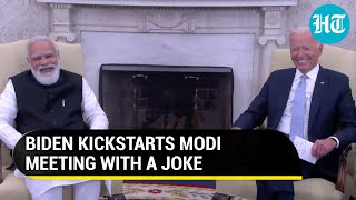 Download Joe Biden makes PM Modi laugh with joke about relatives in India: 'This meeting is to...'
