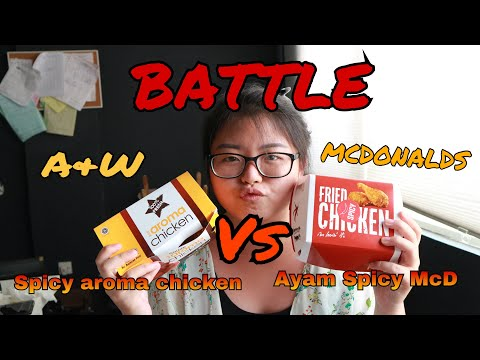 AYAM SPICY MCD VS SPICY AROMA CHICKEN AW - #Vlog037