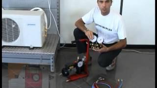 corso n 6 formazione f gas generazione vuoto e test in vuoto con macchina manuale
