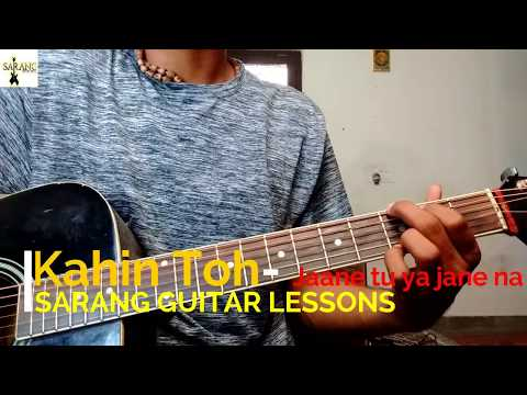 kahin toh hogi woh - jaane tu ya jaane na || easiest || guitar lesson in hindi