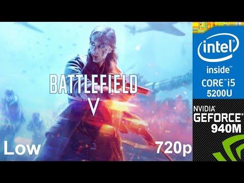 Battlefield V on 940m + Core i5 5200u, HP Pavilion 15 ab032TX Laptop, Low Setting, 720p
