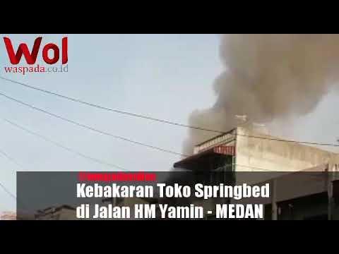 Si Jago Merah Lahap Toko Springbed #waspadaonline #medan