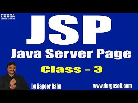 Learn JSP Tutorial Online Training by Nagoor Babu Sir On 18-05-2018
