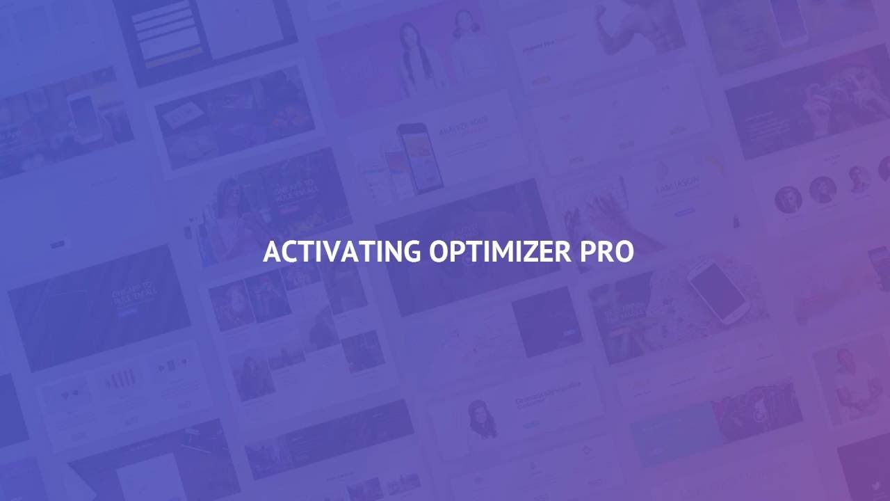 Upgrading To Optimizer Pro - Optimizer WP