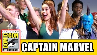 CAPTAIN MARVEL Announced at Marvel Comic Con 2016 Panel - Brie Larson