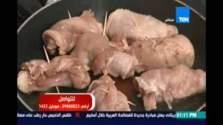 مطبخ تن | وراك دجاج بالقراصيا - الأرز الأبيض - سلطة الفواكة والخضروات | 18 أغسطس