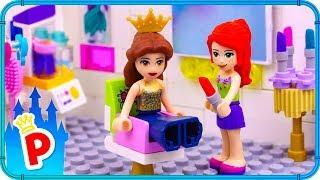 ♥ LEGO Belle Visits BEAUTY PARLOR for a Party Makeup